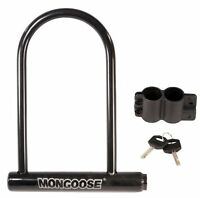Mongoose Large Bicycle U-lock , New, Free Shipping