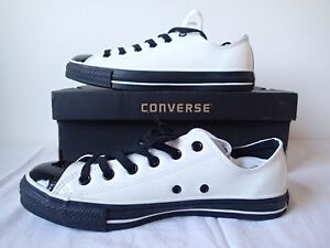 CONVERSE ALL STAR CT LTHR OX 106678 BIANCO WHITE LUCIDE PELLE LEATHER PATENT