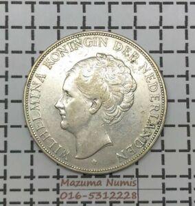 Mazuma *FC09 Netherlands 1929 2 1/2 Guldens Silver .720 GEF