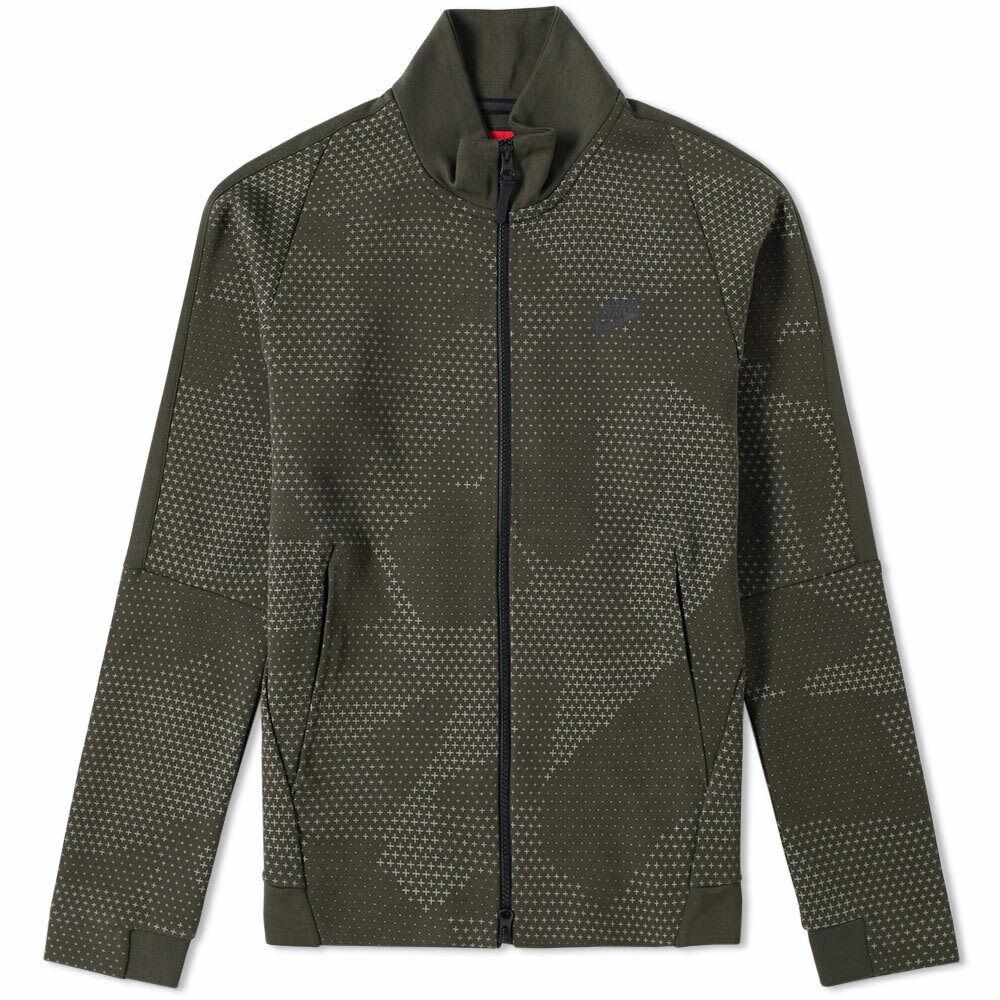 Details about Nike Sportswear Tech Fleece GX Jacket Olive Print Mens Large NWT 886172 355