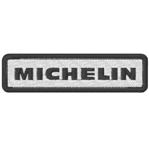 """Racing und Sponsoren Fan Aufnäher /"""" Michelin/"""" 10 x 2,6"""