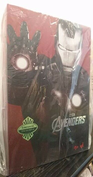RARE SIDESHOW EXCLUSIVE Hot Toys Iron Man Mark 7 VII AVENGERS MMS185 1/6 Scale