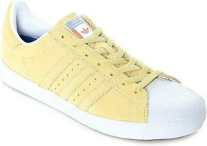 Adidas-Superstar-Vulc-ADV-Men-039-s-Casual-Shoes-Pastel-Yellow-CG4838-Size-10