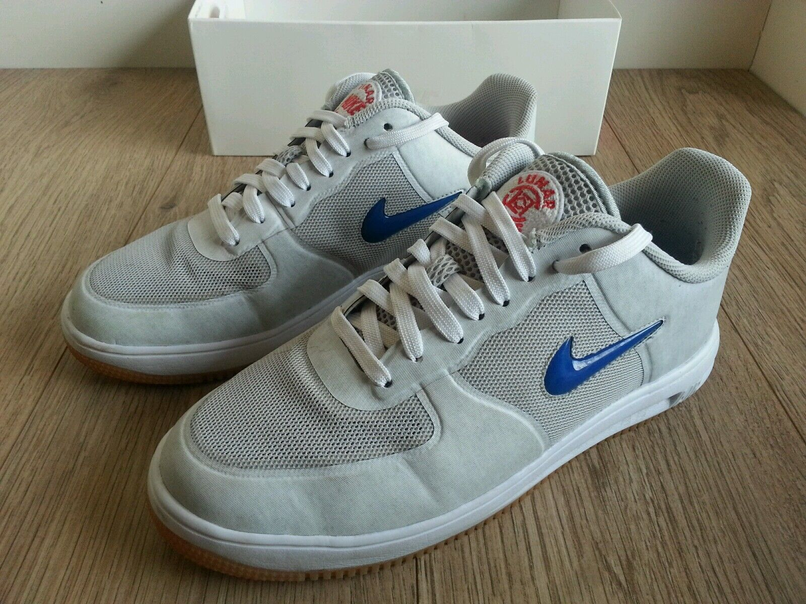 Nike Lunar Force 1 Fuse SP CLOT Trainers Men Used White 717303-064