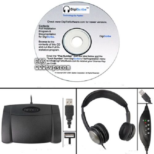 Apptec DigiScribe Digital Audio Transcription Software Kit