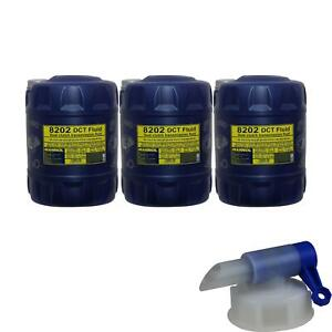 3x-20-Liter-Original-MANNOL-Getriebeoel-8202-DCT-Fluid-Gear-Oil-inkl-Auslaufhahn