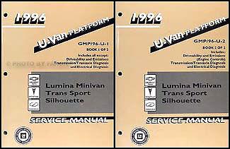 1996 Lumina Van Silhouette Trans Sport Shop Manual Chevy Oldsmobile Pontiac