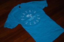 NEW Women's Plato's Closet Aqua Blue 2015 Staff T-Shirt (Small)