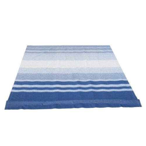 ALEKO Waterproof Vinyl RV Awning Fabric Replacement 12X8 ft  Blue Stripes Color