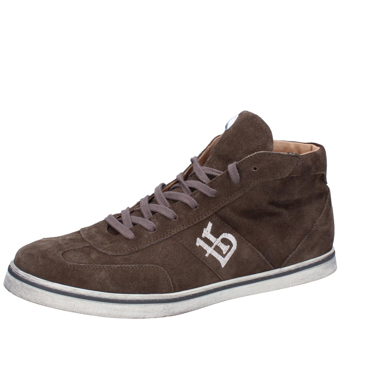 Zapatos para hombre BOTTICELLI Limited 10 () Zapatillas De Gamuza Marrón AH749-D