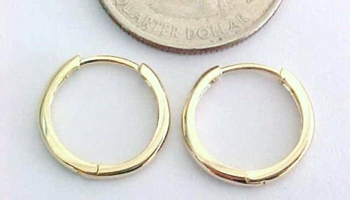 10kt Pure Solid Yellow Gold 15MM Huggie Earrings Gift Box......100% GUARANTEED!