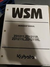 New Kubota Service Workshop Manual ZD1511 9Y111-13850 2016