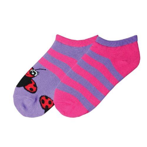 Bell Girl/'s Ladybug Stripe 2 Pair Pack Socks 61773G K