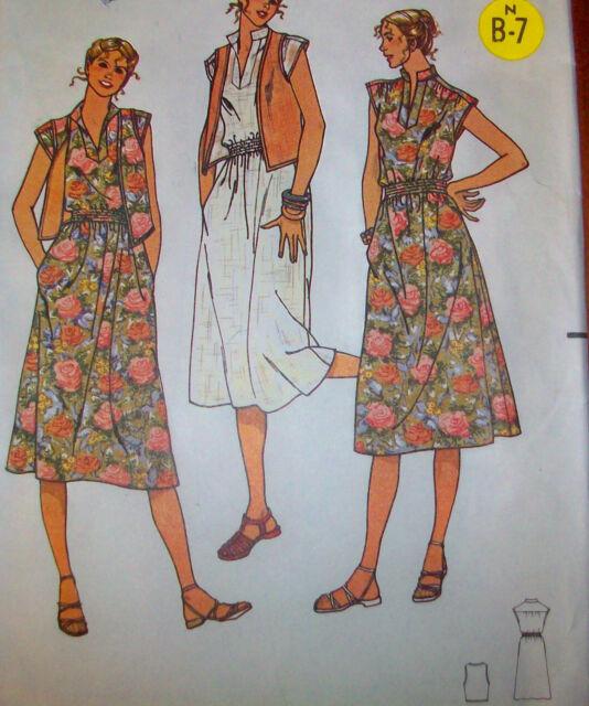 Quick Butterick 6152 Summer Dress Vest Size 10 Uncut Sewing
