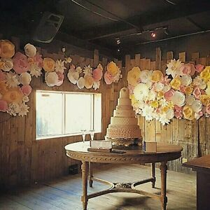 wedding decor shops paper flower decor photo backdrop display bridal 9008
