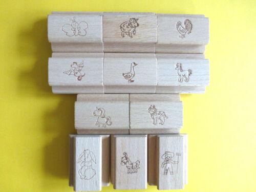 Motivstempel Stempel Tiere /& co ca:50x40mm Kartengestaltung Motivauswahl