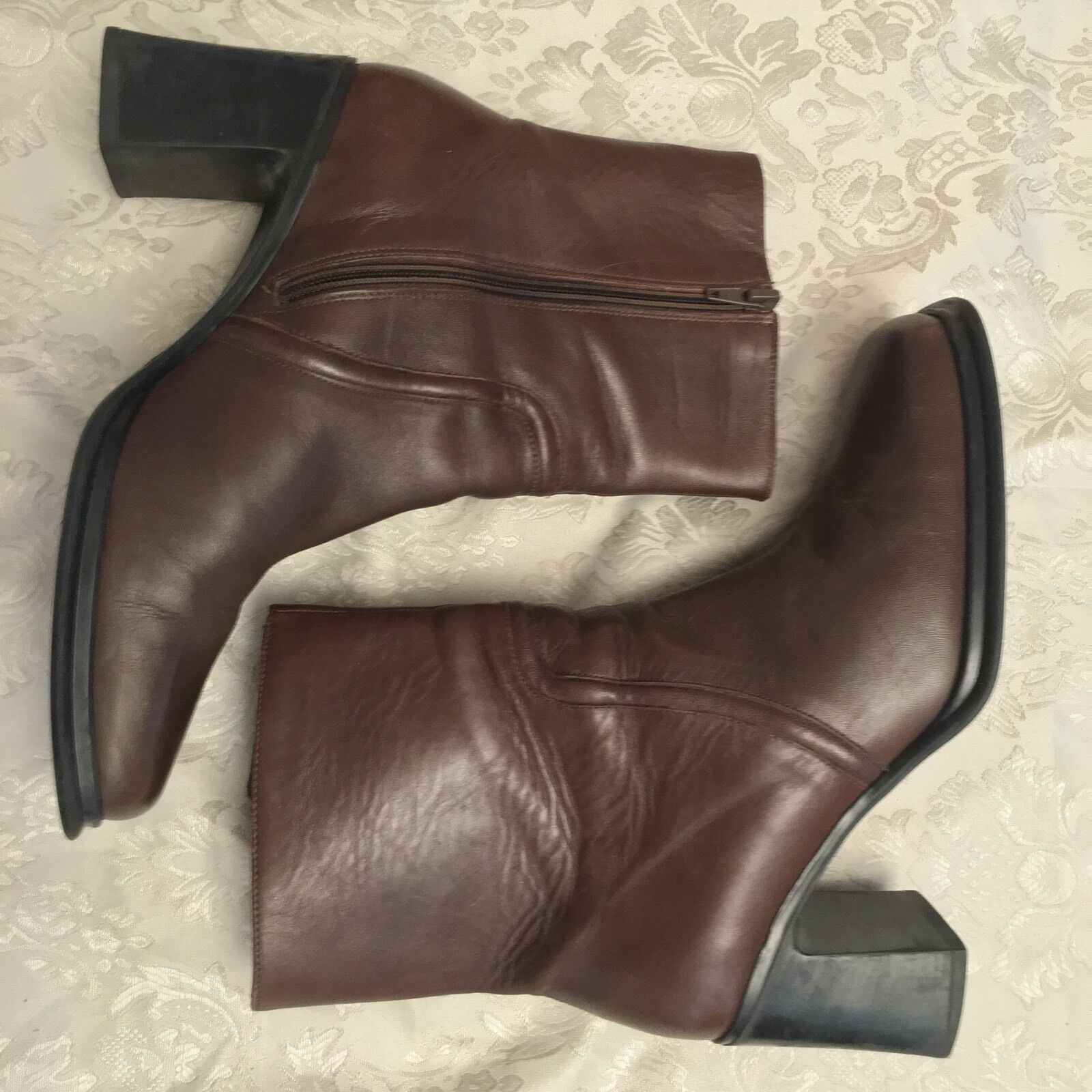 ANDREA COLLECTION Women's Boots Brown size 9.5 Zip Made in Italy