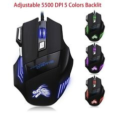Generic Super fast 5500 DPI 7 Button LED Optical USB Wire Gaming Mouse Mice