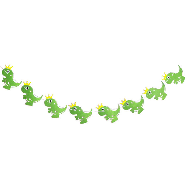 Dinosaur Party Banners Baby Shower Birthday Party Decorations Pennant Kids FJ