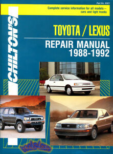Lexus Shop Manual Service Repair Book Chilton Haynes Ls400 Es250 Ebay