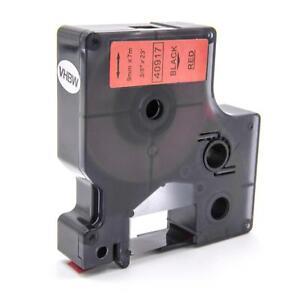 Ribbon Cassette black - red 9mm for Dymo D1 / 40917