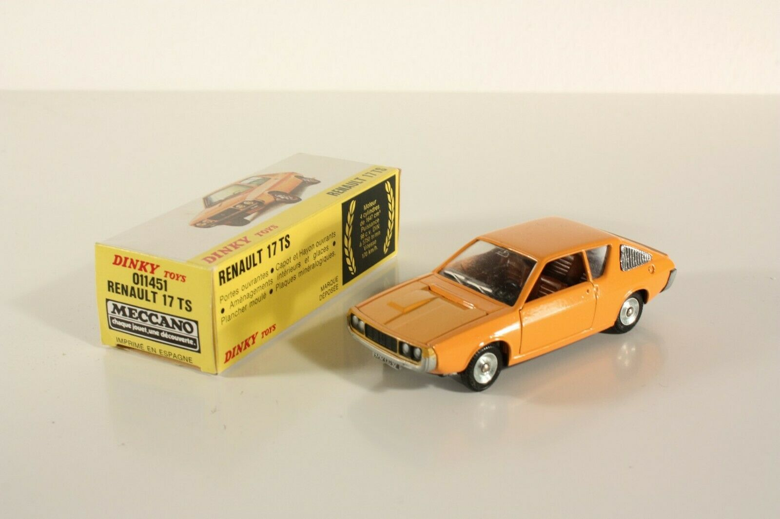 DINKY TOYS 011451, RENAULT 17 TS, Comme neuf Dans Box  ab2266