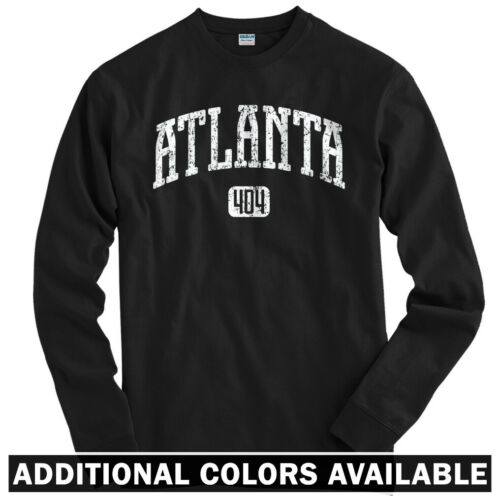 Braves Hawks Falcons Georgia Atlanta 404 Long Sleeve T-shirt LS Youth Men