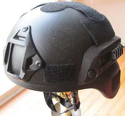 MICH 2002 Helmet Polymer Replica with Night Vision Goggle Mount Point/& Side Rail