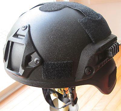 MICH 2002 Helmet Polymer Replica w//Night Vision Goggle Mount Point /& Rail Tan