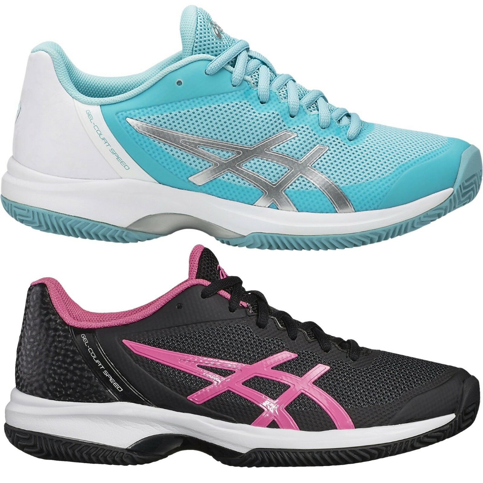Asics GEL-COURT GEL-COURT GEL-COURT SPEED CLAY Damen Outdoor Tennisschuhe E851N hellblau schwarz 9eb464
