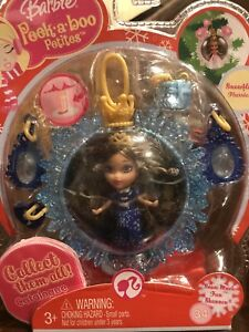 Barbie Peek A Boo Petites Snowflake Flurries Collection 34 Snow Much