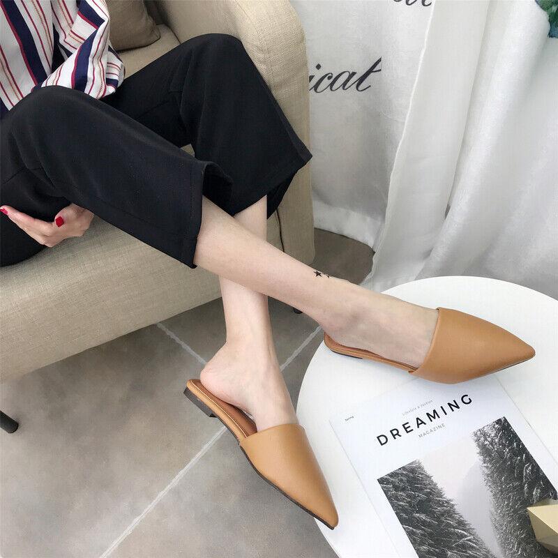 Sandali tacco basso eleganti comodi ciabatte simil pelle beige sabot 1035