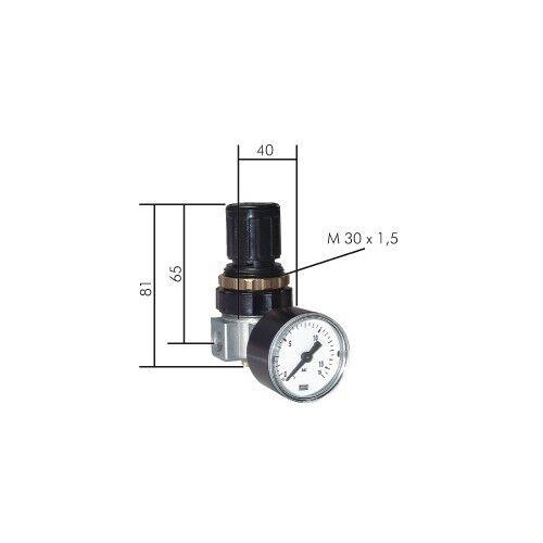 "con manómetro Mini regulador de presión reductor de presión druckluftminderer g 1//8/"" g 1//4/"""