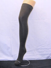 GREY COTTON SOFT STRETCHY OVER THE KNEE HIGH SOCKS ADULT SCHOOLGIRL