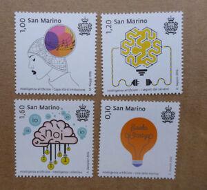 2016-SAN-MARINO-SET-OF-4-ARTIFICIAL-INTEL-MINT-STAMPS-MNH