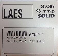 LAES Globelampe G95 E27 ringverspiegelt SILBER 60W ø 95mm Glühlampe ANILLO