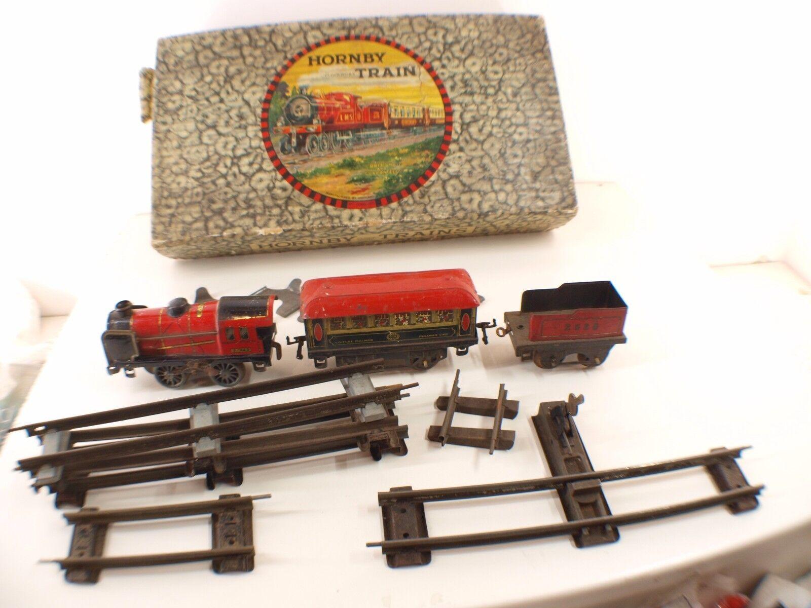 Hornby Caja N º 1 Goodset Tren Clockwork Loco 3.1225 Pullman Raíl 35 MM