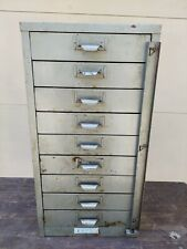 Vintage Ready Metal Mfg Co 9 Drawer Small Parts Cabinet