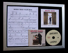 BRUNO MARS When I Was Your Man LTD QUALITY CD FRAMED DISPLAY+FAST GLOBAL SHIP