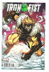 Iron-Fist-5-2017-Marvel-Jim-Lee-Sabretooth-X-Men-Variant-Editon-Cover-NM