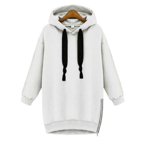 Women/'s Zip Up Hoodie Sweatshirt Winter Hooded Jumper Sweater Pullover Top Coat