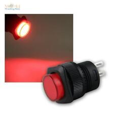 Druckschalter mit LED-Beleuchtung ROT, max 1A/250V, Schalter beleuchtet switch