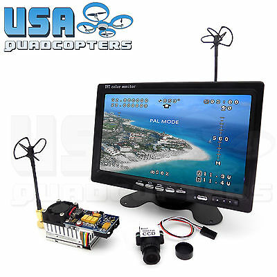 5.8GHz FPV System Ultra HD 1000TVL Camera, Monitor, 2000mW Transmitter Kit