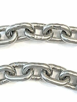"""Stainless Steel Windlass Anchor Chain 316 7mm 1//4/"""" DIN766 by 25/' with shackles"""