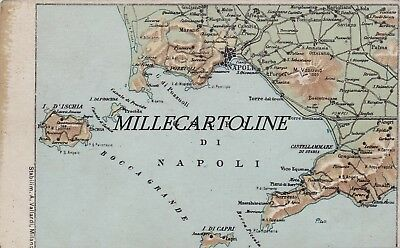 Provincia Di Napoli Cartina.Napoli Cartolina Con Cartina Geografica Ebay