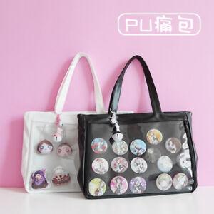 PU-Transparent-shoulder-bag-ita-Bag-Canvas-Handbag-Japan-for-Dango-Badge-Lolita