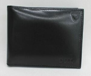 ASPINAL-OF-LONDON-Men-039-s-Black-Billfold-Smooth-Leather-ID-Wallet-Embossed-DML-NEW