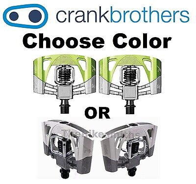 Crank Brothers Mallet 2 MTB Bike Pedals Green//Silver