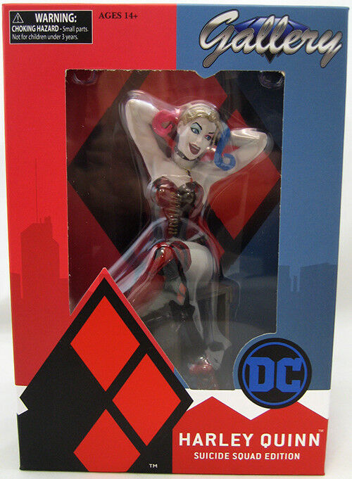 DC Gallery 8 Inch Statue Figure Suicide Squad - Harley Quinn