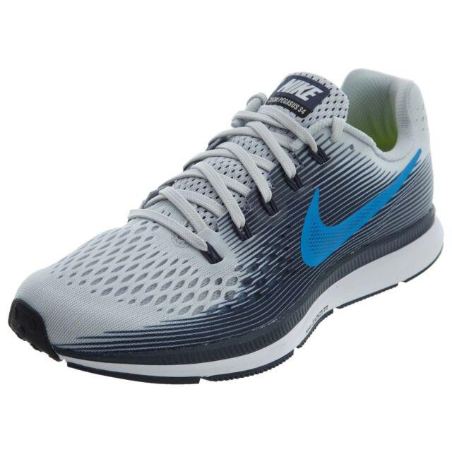 big sale a827f ba863 Nike Air Zoom Pegasus 34 Mens 880555-008 Platinum Blue Running Shoes Size 11